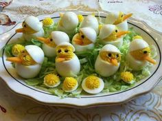 Cute, devilled eggs for Easter