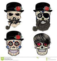 bearded sailor skull - Cerca con Google
