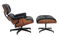 Shop the authentic Eames Lounge Chair from Herman Miller. Designed by Charles and Ray Eames, this leather lounge chair is one of the most significant designs of the century. In continuous production since Made in USA. Shop leather lounge chairs at DWR. Skandinavisch Modern, Modern Design, Modern Lounge, Modern Chairs, Modern Classic, Timeless Design, Ottoman Design, Chair Design, Lounge Design
