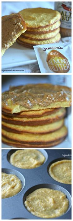 Almond Breakfast Cakes Served Warm With Almond Butter