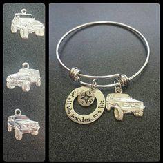 Jeep charm expandable bracelet