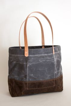 Image of Original Waxed Tote- Charcoal