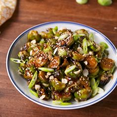 Kung Pao Brussels Sprouts Cooking TV Recipes is part of Food Salty, spicy, and addicting - Whole Food Recipes, Dinner Recipes, Cooking Recipes, Healthy Recipes, Cooking Tv, Cooking Pork, Easy Cooking, Vegan Lunch Recipes, Cooking Fish