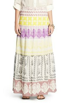 Marny Printed Cotton Maxi Skirt In Rajasthan Borders
