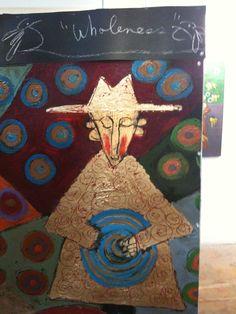 Tres Taylor Birmingham Al Artist Paints On Tar Paper