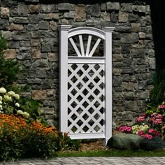 Shop New England Arbors 27 In W X 60 In H White Vinyl Freestanding Garden  Trellis At Lowes.com | Hammock Final Plants And Garden Elements | Pinterest  ...