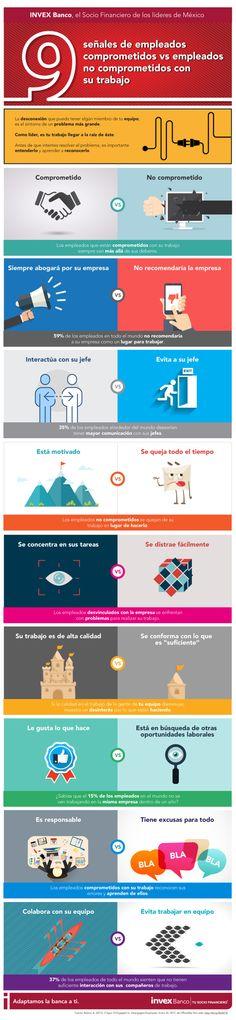 9 señales para reconocer trabajadores comprometidos en el trabajo #infografia