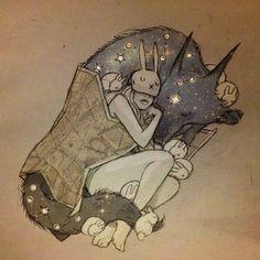 Chiara Bautista beautiful art! Star wolf and Bunny girl.