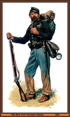 45th New York Volunteer Infantry 1863 by artist Don Troiani