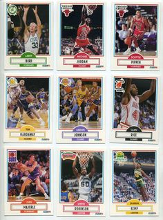 I collected basketball cards for a long time. I think had almost the entire set of 1990-91 Fleer set.