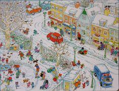 Praatplaat Bas - Winter (getekend door Dagmar Stam)