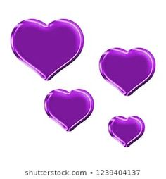 Colorful purple plastic set of rounded heart shape design elements in a illustration with purple color shiny glass effect & beveled edge isolated on a white background with clipping path Purple Things, Heart Background, Shape Design, Love Heart, Design Elements, Heart Shapes, Royalty Free Stock Photos, Hearts, Plastic