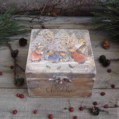 """Купить """"Зима в Лисьем лесу"""" Короб деревянный ОЛЬХА - деревенский стиль, винтаж, Короб деревянный"""