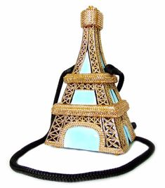 680b7b5cdc34 Details about Timmy Woods Eiffel Tower Evening Bag with Swarovski Crystals  SATC