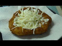 Igazi békebeli lángos (Mártus házi konyhája) - YouTube Baked Potato, Camembert Cheese, Pizza, Potatoes, Baking, Ethnic Recipes, Food, Youtube, Potato