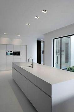 60 Gorgeous White Kitchen Design and Decor Ideas # Minimal Kitchen Design, Kitchen Room Design, Contemporary Kitchen Design, Minimalist Kitchen, Home Decor Kitchen, Interior Design Kitchen, Boho Kitchen, Interior Livingroom, Stylish Kitchen
