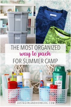 Learn the best tips and tricks for the most organized way to pack for summer camp! Make your trip to summer camp as smooth and seamless as possible! | #packing #howtopack #summercamp