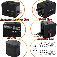 Universal World Plug Travel Adapter Converter With Dual USB Charger AC Plug Power Travel Charger AUUSUKEU IG673 -- Read more reviews of the product by visiting the link on the image. (Note:Amazon affiliate link)