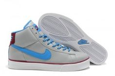 size 40 45da1 10e85 Nike 902 Blazer High Leather Sneakers Heren Grijs Koningsblauw  Moerbei,Stylish trainers hot sale with off right here.