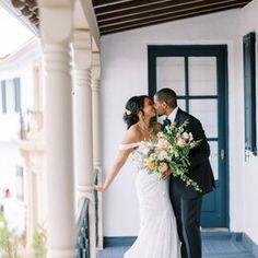 lauren-justin-wedding-couple-0421 Wedding Reception At Home, Reception Table, Black Suit Jacket, Black Tux, Arizona Wedding, California Wedding, Wedding Dress Necklines, Wedding Dresses, Peach Color Palettes
