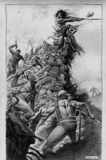 Billedresultat for boris vallejo conan Comic Book Characters, Comic Books Art, Illustrations, Illustration Art, Conan Comics, Conan The Barbarian, Sword And Sorcery, Fantasy Warrior, Fun Comics