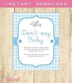 Baby Shower Clothes Pin Game Impressive Don't Say Baby Game Baby Shower Games Printable Bumble Bee Baby Inspiration
