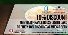 Use your Finance House credit card to avail 10% discount at Mugg & Bean.  Get further access to more of your cards' offers by downloading GL Deals app now for free. http://www.gldeals.com/myapp #instalike #tagsforlikes #dubai #abudhabi #uae #offers #app #appstore #iosapp #googleplay #android #ios #gldeals #deals #discounts #cards #muggandbean #valuehouse #american #cafe