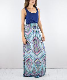 Take a look at this éloges Royal & Mint Damask Maxi Dress today!