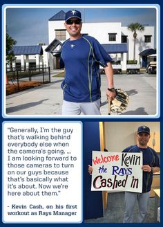 Tampa Bay Rays - Kevin Cash looking good after addressing his players for the first time.GO KEVIN! GO RAYS!!!