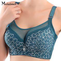 Meizimei women underwear XXX sexy push up fly bra big size full cup ladies lace lingerie wide strap brassiere femme soft bras bh (55% discount)