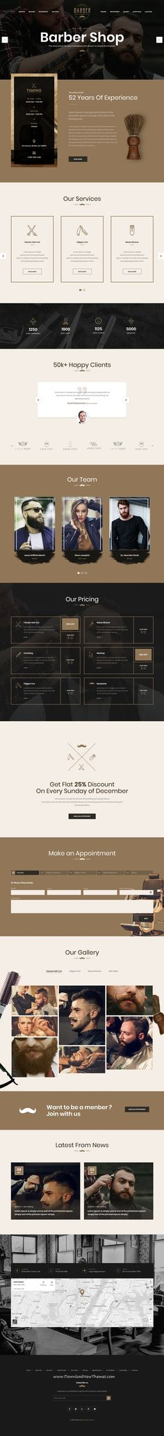 Unique is clean and modern design 2in1 responsive bootstrap #HTML #template for #salon and #barbershop website to download & live preview click on image or Visit #webdesign