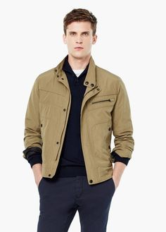 Pocket nylon jacket | MANGO MAN