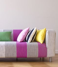 Give your IKEA furniture a new life! | Bemz.com carries slipcovers for all IKEA couches!  WHAT???!!!!