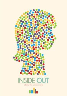 Inside Out (2015) ~ Minimal Movie Poster by Mads Svanegaard #amusementphile
