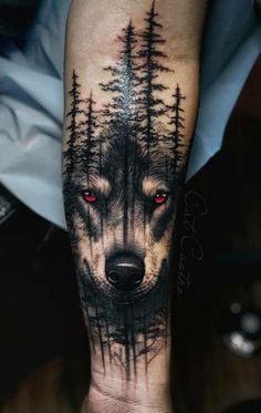 Animal Sleeve Tattoo, Lion Tattoo Sleeves, Nature Tattoo Sleeve, Best Sleeve Tattoos, Animal Tattoos, Cool Tattoos, Tree Sleeve Tattoo, Wolf Tattoos Men, Warrior Tattoos