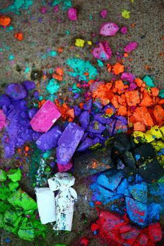 Crushed Summer Sidewalk Chalk by Pink Sherbet Photography, via Flickr