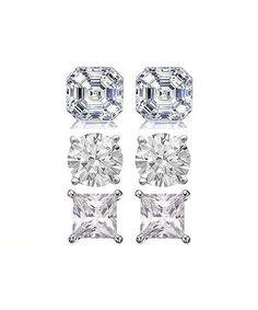 Swarovski® Crystal & Sterling Silver Stud Earring Set #zulily #zulilyfinds