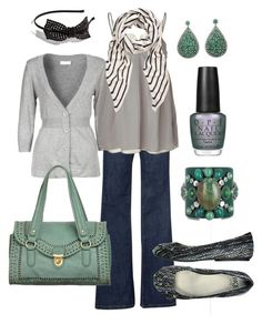"""grey & teal"" by htotheb ❤ liked on Polyvore featuring Vero Moda, Kookaï, Schumacher, The Row, BKE Sole, OPI, Nica, Tasha, Emilio Pucci and teal"