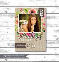 Watercolor Graduation Announcement Invite Rustic Invitation Party College Open House PRINTABLE Or PRINTED CARDS