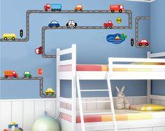 Cars Wall Decal Transportation Wall Decal Roadway by StudioWallArt, $155.00