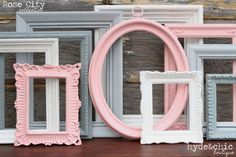 Shabby Chic Decor- these in grey and raspberry would work for the living room