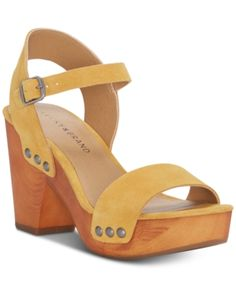 7cd7b0f5d8dc Lucky Brand Women s Trisa Wood Sandals - Yellow ...