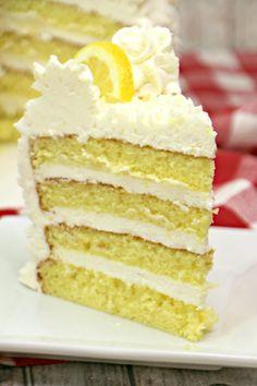 Italian Lemon Drop Cake with Lemon Buttercream Frosting Italian Lemon Drop Cake! Lemon Desserts, Lemon Recipes, Just Desserts, Cake Recipes, Dessert Recipes, Cupcake Cakes, Cupcakes, Poke Cakes, Drop Cake