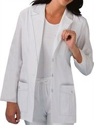 Style # 2321: WHITE: Cherokee Women's Notched Lapel Lab Coat