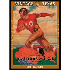 Vintage Texas Football 2013 Wall Calendar: The 2013 Vintage Texas Longhorns Football Calendar features archival-quality images of vintage game-day f Old Comics, Vintage Comics, Vintage Books, Tarzan, Texas Longhorns Football, Ut Longhorns, Sports Illustrated Covers, Derby Horse, Adventure Magazine