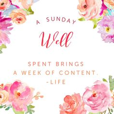 A Sunday well spent brings a week of content  ~Life #SundayMorning  #MyGodIsAwesome  #FaithFULL