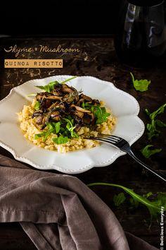 Thyme and Mushroom Quinoa Risotto Recipe {vegan} | DeliciousEveryday.com