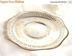 ON SALE Silver Plate Dish Silver Catch All by AgedwithGraceVintage