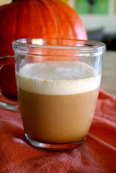 Homemade pumpkin spiced latte.