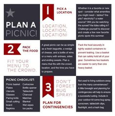 "Picnic Checklist from ""Organized Picnics and Outings"""
